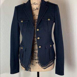 Loft Navy Wool Blend Blazer Coat